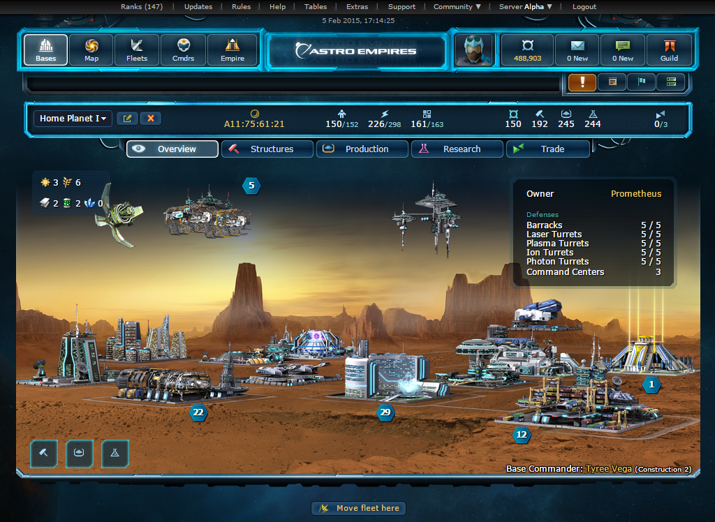 Astro Empires - Free MMO Space Strategy Browser Game